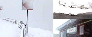 Zăpadă în România! Ninge de ore bune pe Transfăgărășan