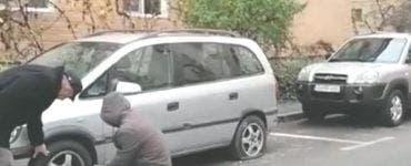 Zeci de mașini dintr-o parcare din Craiova au fost găsite cu anvelopele tăiate