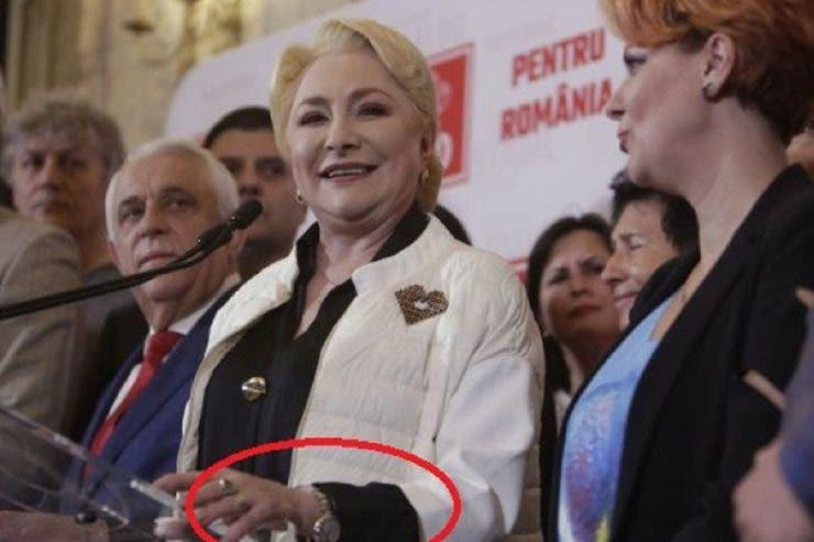 Viorica Dăncilă ceas Cartier