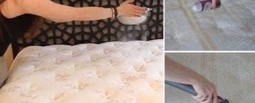 Soluția făcută în casă care scoate mirosul urât din saltea