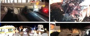 Accident mortal între Deva și Arad. Două persoane au murit din cauza nerespectării distanței regulamentare dintre mașini