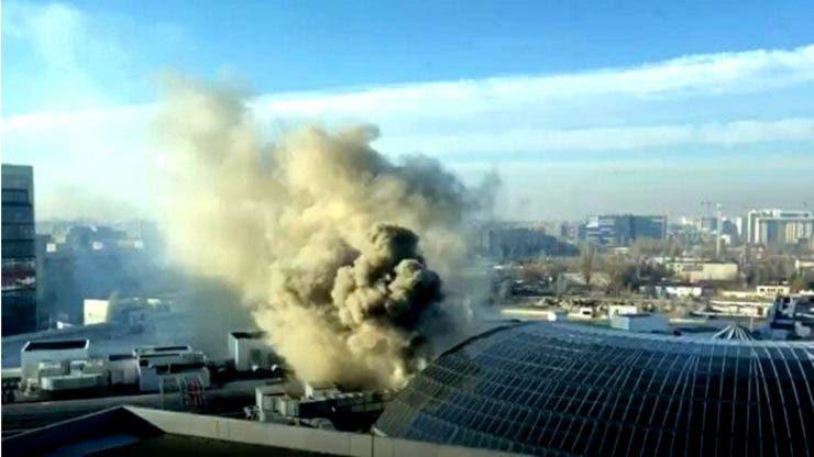 Incendiul din mall-ul Afi Cotroceni! Ce anume a declanșat focul