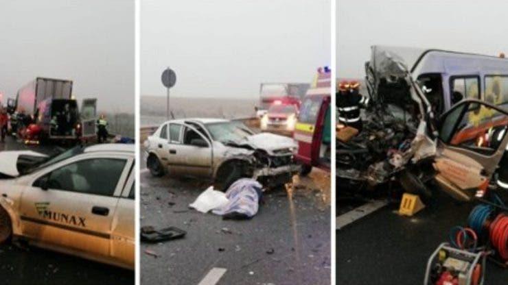 Accident grav pe autostrada A1 Arad-Timișoara. Cinci oameni sunt încarcerați