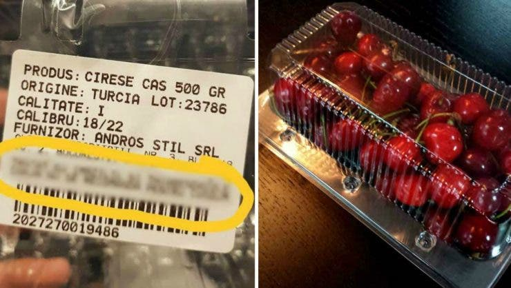Un român a cumpărat cireșe dintr-un hipermarket, dar când a ajuns acasă și a văzut ce scrie pe caserolă, nu i-a venit să creadă! Mai cumperi acum: