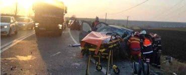 Accident grav în Pitești. O persoană a murit şi două au fost grav rănite