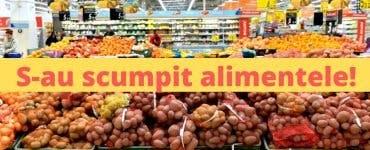 Anunț pentru toți consumatorii! Au crescut prețurile la aproximativ toate alimentele. Topul produselor scumpe