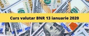 Curs valutar BNR 13 ianuarie 2020. Ce valoare are moneda europeană astăzi