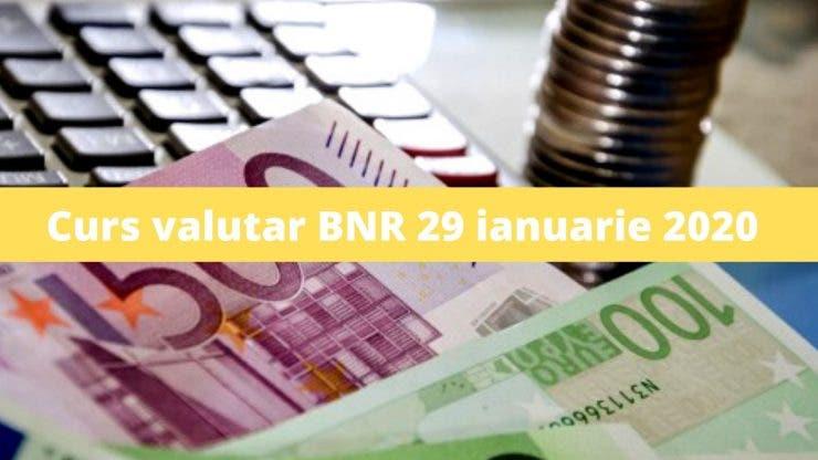 Curs valutar BNR 29 ianuarie 2020. Ce se întâmplă astăzi cu moneda europeană