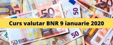 Curs valutar BNR 9 ianuarie 2020. Valoarea monedei europene astăzi