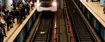Momente șocante la metrou. Un bărbat în vârsta de 40 de ani s-a aruncat în fața metroului