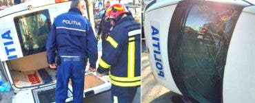 Accident în București, între o mașină a Poliției și alte două autoturisme. O polițistă a fost rănită
