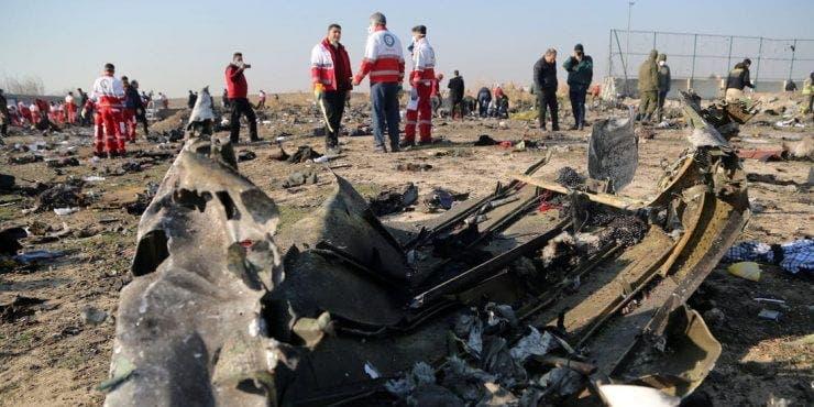 avionul prăbușit în Teheran