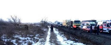 Carambol în județul Sibiu. Trei mașini s-au ciocnit din cauza unui șofer băut