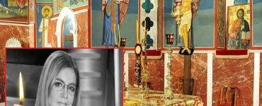 cristina țopescu a avut parte de slujbă religioasă