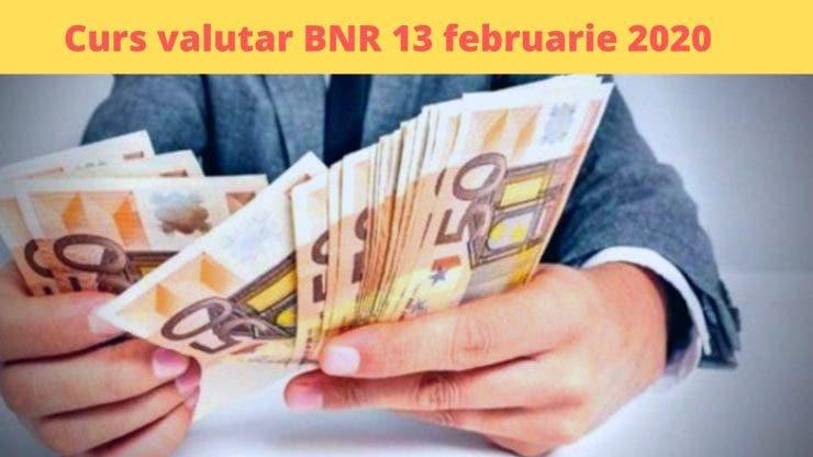 Curs valutar BNR 13 februarie 2020. Valoarea monedei europene astăzi