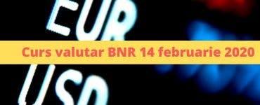 Curs valutar BNR 14 februarie 2020. Cum încheie moneda europeană această săptămână