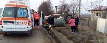 Accident rutier în Botoșani. Patru tineri au fost răniți