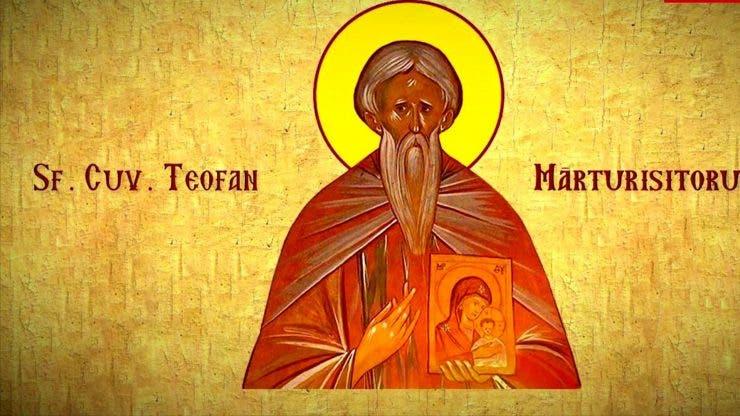 Calendar ortodox 12 martie 2020. Sfântul Ierah Teofan Mărturisitorul, Episcopul Niceei