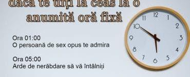 Ce înseamnă, de fapt, dacă te uiți la ceas la o anumită oră fixă. Vezi semnificația exactă pentru fiecare oră