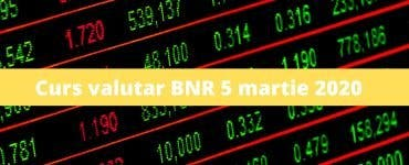Curs valutar BNR 5 martie 2020