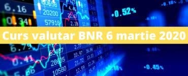 Curs valutar BNR 6 martie 2020. Cât a ajuns să coste azi un euro