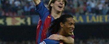 Leo Messi îl ajută pe Ronaldinho