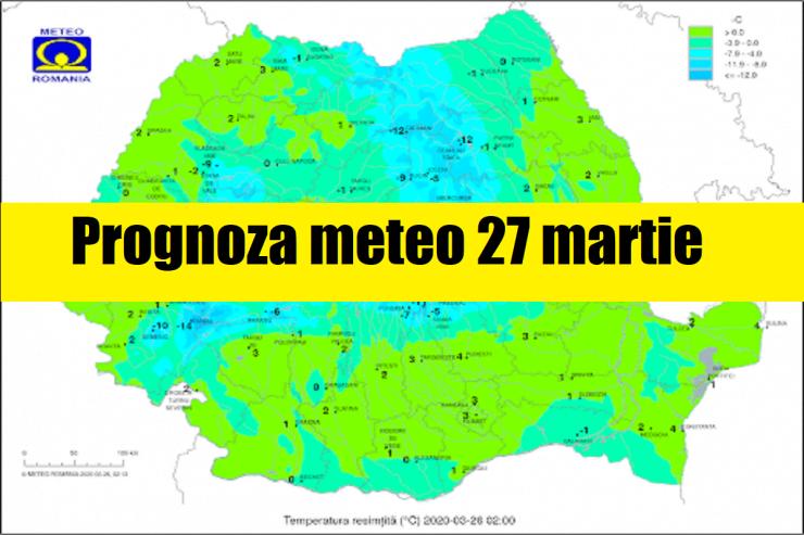Prognoza meteo ANM 27 martie
