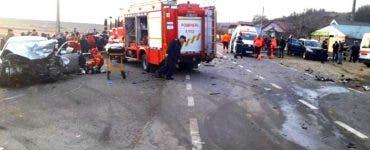 Accident grav în Vaslui. Două morți și șase răniți