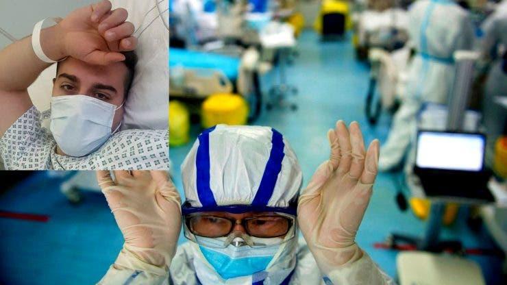 mesajul tanarului infecctat cu coronavirus