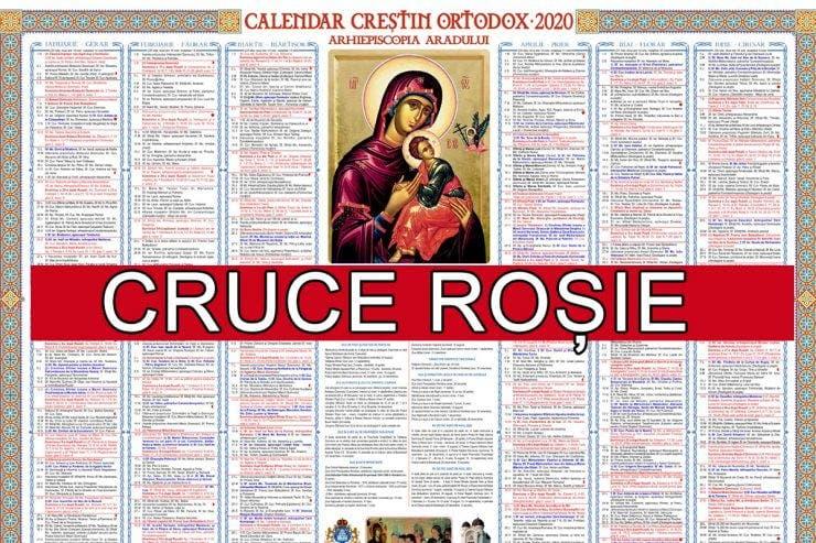 Calendar ortodox 24 aprilie 2020. Cruce roșie în calendar, Izvorul Tămăduirii