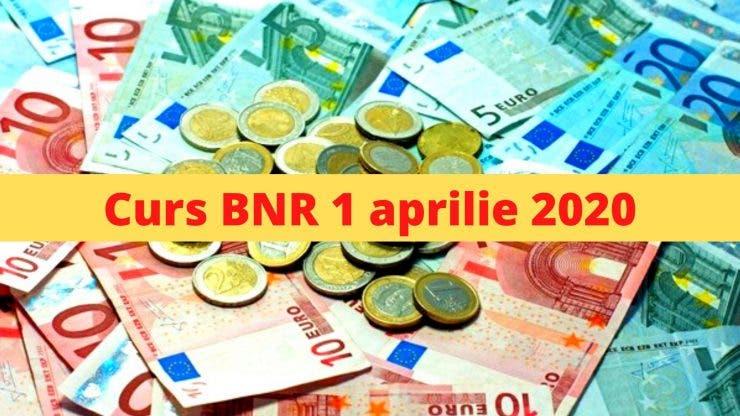 Curs BNR 1 aprilie 2020