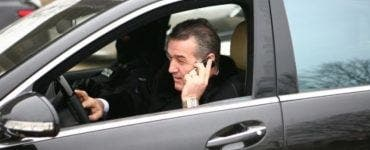 Gigi Becali a fost oprit de poliție