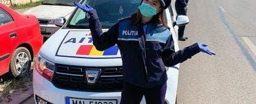 Larisa Iordache, în uniformă de poliție