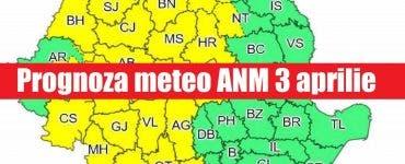 Prognoza meteo ANM 3 aprilie. Cum va fi vremea în București, Iași, Constanța sau Cluj – meteorologii anunță temperaturi în creștere