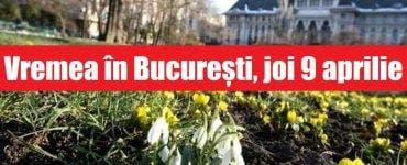 Vremea în București, joi 9 aprilie. Temperaturile se mențin calde, conform ANM