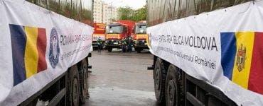 Ajutor pentru Republica Moldova. România a trimis 20 de camioane cu echipamente și medicamente