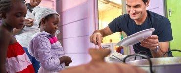 Federer ajută copiii din Africa