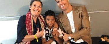 Ronaldo și-a surprins mama
