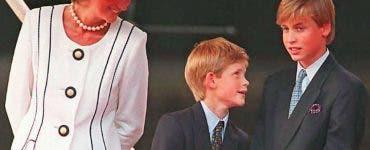 Prințesa Diana prințul William și prințul Harry