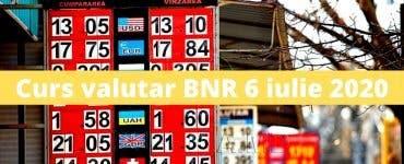 Curs valutar BNR 6 iulie 2020