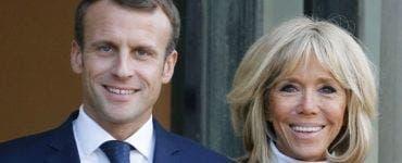 Emmanuel Macron și soția lui