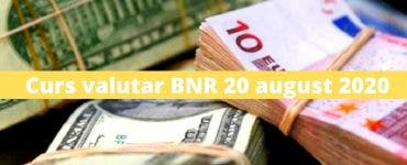 Curs valutar BNR 20 august 2020