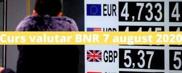 Curs valutar BNR 7 august 2020