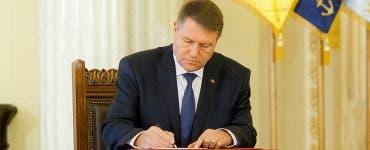 Iohannis a semnat