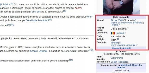 Pagina lui Raed Arafat