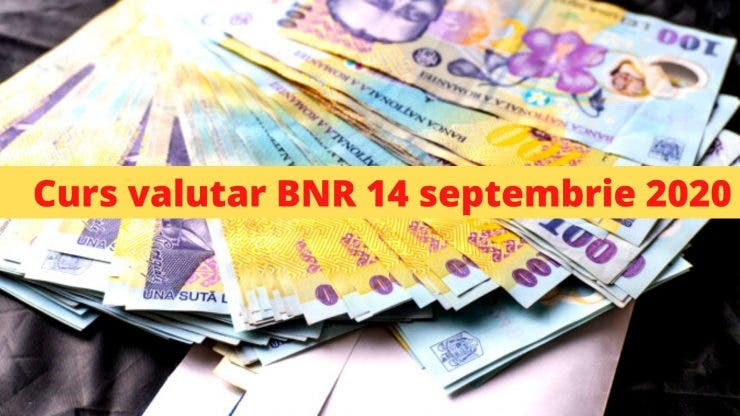 Curs valutar BNR 14 septembrie 2020