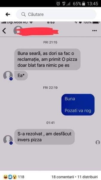 Mesaj pizza blat