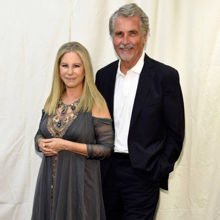 Barbara Streisand and James Brloin