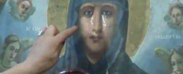 Icoana Sfintei Parascheva plânge_