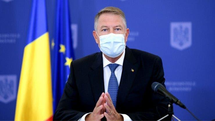 Klaus Iohannis, declarații în ziua recordului de COVID-19